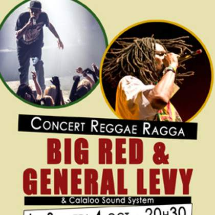 Big Red (Raggasonic) & General Levy en concert