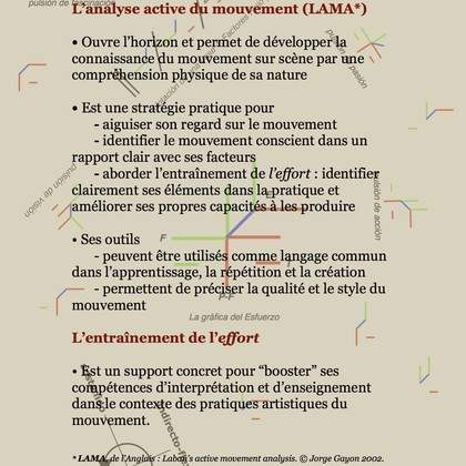 "Stage ""L'analyse active du mouvement (LAMA), introduction à l'entraînement de l'effort de Laban"". XXI édition internationale avec Jorge Gayon."